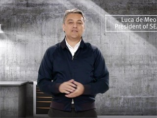 SEAT President Luca de Meo presents the latest novelties in a web videoconference