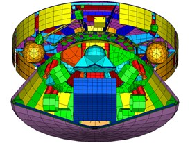 Mars Science Laboratory (MSL) Capsule with Rover: Siemens NX CAE thermal model