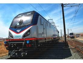 May 2013 Amtrak Cities Sprinter Unveil at Siemens Sacramento Rail Manufacturing Facility Amtrak Cities Sprinter (ACS-64)
