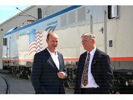 May 2013 Amtrak Cities Sprinter Unveil at Siemens Sacramento Rail Manufacturing Facility - Cahill and Boardman