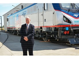 May 2013 Amtrak Cities Sprinter Unveil at Siemens Sacramento Rail Manufacturing Facility - Boardman