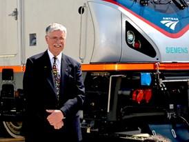 May 2013 Amtrak Cities Sprinter Unveil at Siemens Sacramento Rail Manufacturing Facility - Boardman