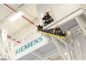 Workers train at Siemens Orlando Wind Service Training Center