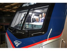 February 2014 - Vice President Joe Biden  inside Amtrak Siemens ACS-64 Cities Sprinter Cab