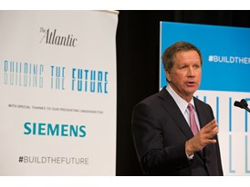Ohio Governor John Kasich speaks at Siemens Norwood Manufacturing facility, Feb. 19th, 2014