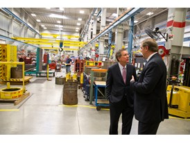 Ohio Gov. John Kasich and Eric Spiegel, Pres. and CEO, Siemens USA,  Norwood Manufacturing facility, Feb. 19th,2014