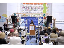 "Rose Marie Glazer of Siemens speaks at The Children's Hospital of Philadelphia ""Pass the Baton"" event 3/20/14"