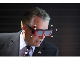 Governor Terry McAuliffe, Governor of Virginia, given a demo of Siemens software at CCAM's 3D visualization lab.6/4/14