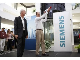 Randy Zwirn, Siemens Energy CEO and Chuck Wood Regional Vice President Siemens Healthcare Pass The Baton 6/12/14