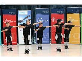 Struck Boyz perform at the Siemens Baton Pass event in Neptune, NJ 8/21/14
