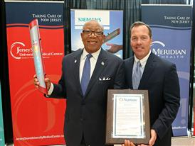 Timothy J. Hogan of Meridian Health and Dr. Michael Brantley, Mayor, Neptune Twp., NJ 8/21/14