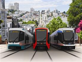 3 cars: 3 Siemens-proposed designs, one of which will be chosen by the SFMTA following public input 9/19/14