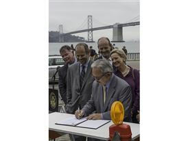 Mayor Ed Lee Signing New LRV Contract 9/19/14