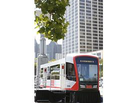 Siemens mock-up of SFMTA's new Light Rail Vehicle for MUNI 6/16/15