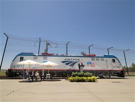 Final Siemens-built ACS-64 electric locomotive built in Sacramento celebration