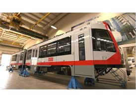 MUNI Light Rail Vehicle - Siemens Sacramento Rail Plant