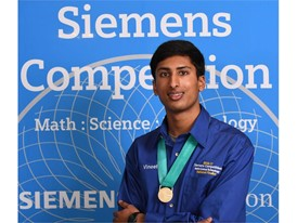 Vineet Edupuganti,  $100,000 winner, Siemens Competition 2016