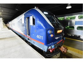 New Siemens Charger Locomotive for Amtrak Unveiled at Chicago's Union Station 8-28-17