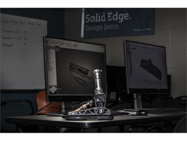 Prosthetic and Siemens Solid Edge in Background