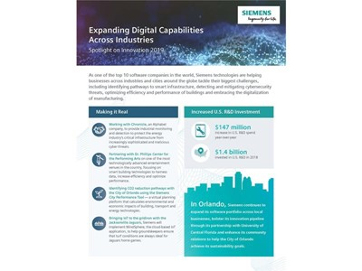 Siemens innovation DNA shines via real-world projects at company's annual U.S. technology conference