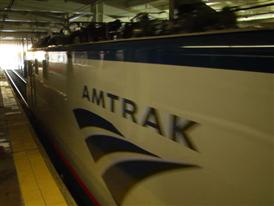Amtrak/Siemens ACS-64 departs 30th Street Station, Philadelphia