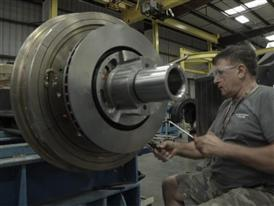 B-Roll: Siemens train manufacturing 9/19/14