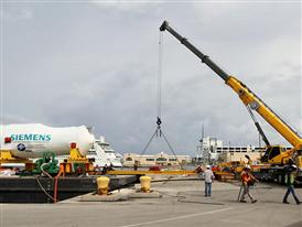 Siemens H - Class Turbine's Journey From North Carolina to Florida