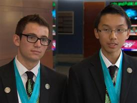 Albert Zuo and Eli Echt-Wilson, $100,000 Scholarship, Team Winners