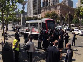 TIME LAPSE:  Siemens/SFMTA Muni Mock-up 6/16/15