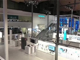 Siemens Hannover Messe Booth BRoll