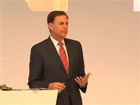 Jay Timmons, President & CEO, National Association of Manufacturers, talks at Hannover Messe about creating solutions