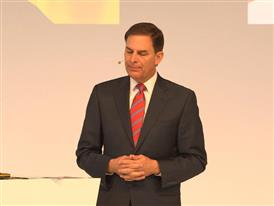 Jay Timmons, President & CEO, National Association of Manufacturers, talks at Hannover Messe about improving the world