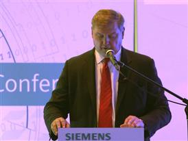 Eric Spiegel, President and CEO, Siemens USA, talks at Hannover Messe about Siemens being a world leader