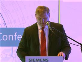 Eric Spiegel, President and CEO, Siemens USA, talks at Hannover Messe about Industry 4.0