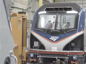 Amtrak Cities Sprinter Locomotive Manufacturing B-Roll
