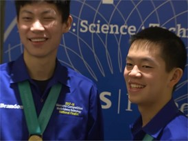 Brandon Zhu and Daniel Zhang - National Finalist - Team