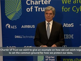 Joe Kaeser, President & CEO, Siemens  On adding Dell, Cisco, Total and TÜV SÜD to the Charter of Trust