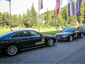 Some cars of the Audi a8 VIP fleet service for St Mortiz Art Masters