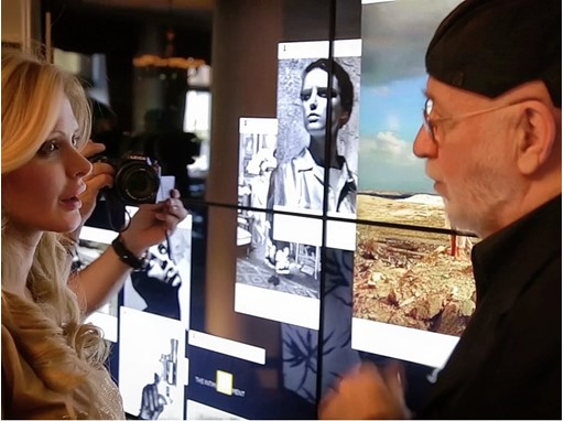 Albert Watson with Audrey Tritto, luxury blogger and influencer of audreyworldnews