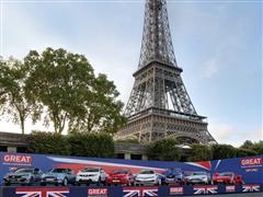 British-built cars more popular than ever as UK automotive leaders unite at Eiffel Tower ahead of Paris Motor Show