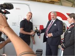 """SWISS tauft eine CS300 auf den Namen """"Winterthur"""""""