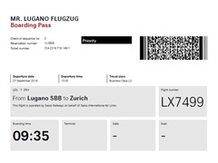 New 'Flugzug' rail service between Lugano and Zurich Airport
