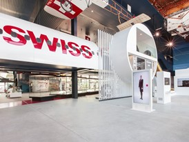 SWISS display island at Swiss Museum of Transport in Lucerne