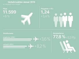 Verkehrszahlen Januar 2019