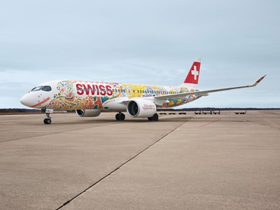 SWISS repaints CS300 aircraft to mark Fête des Vignerons 2019
