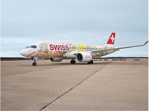 The SWISS CS300 currently carrying the special Fête des Vignerons livery will overfly the site of the Fête des Vignerons