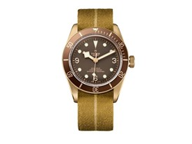 TUDOR Heritage Black Bay Bronze 3 brown fabric beige