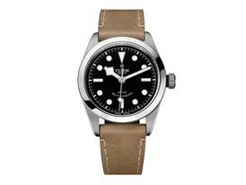 TUDOR Heritage Black Bay 36 - black leather beige 2