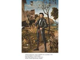 Vittore Carpaccio, Joven caballero en un paisaje, 1510