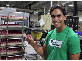 Rafa Cabrera Bello at Titleist Ball Plant 3